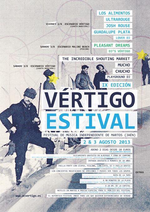 Cartel del Vértigo Estival 2013