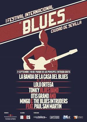 Cartel I Festival Blues Ciudad de Sevilla
